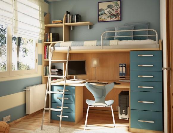 غرف نوم أطفال متنوعة Childrens-room-6-582x447