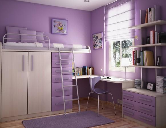 غرف نوم أطفال متنوعة Kids-room-3-582x447