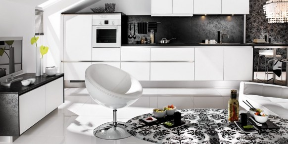 ديكورات بالابيض والاسود2012 شيك جداا Black-white-living-kitchen-582x292
