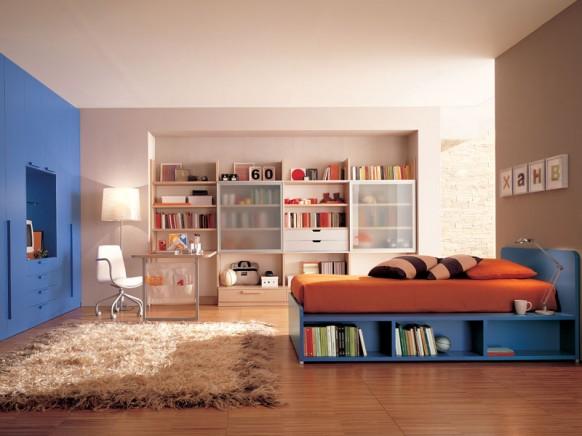 ديكوآرآت جميله Kids-study-room-design-582x436