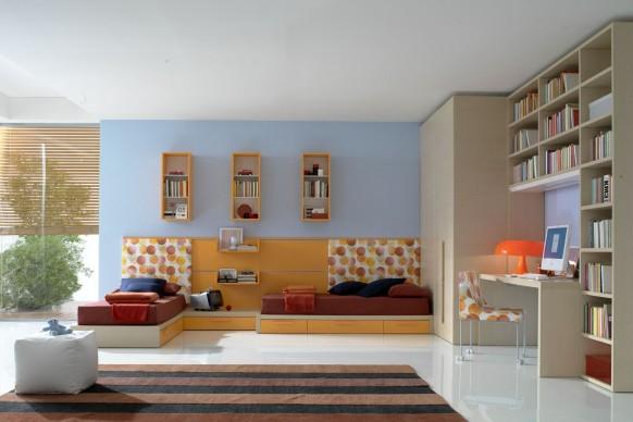 ديكوآرآت جميله Kids-twin-bedroom-582x388