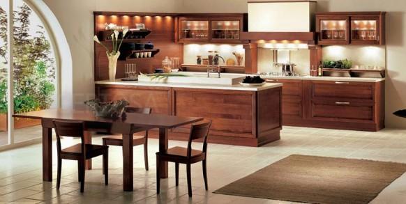 اجمل الدهانات للمنزل Brown-white-kitchen-582x293