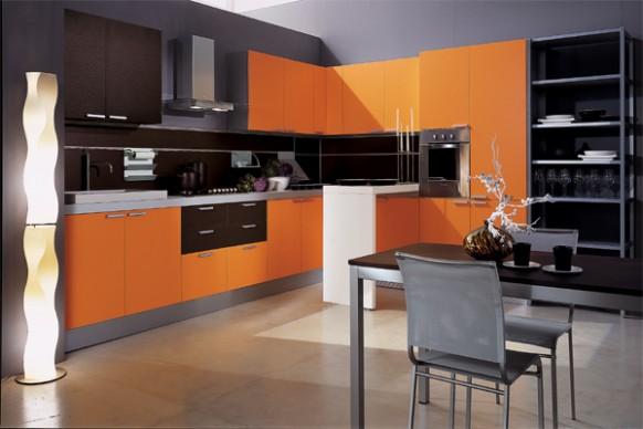 فخامة وروعة الأثاث ولا في الأحلام Mia-arancio-orange-kitchen-582x388