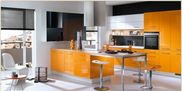فخامة وروعة الأثاث ولا في الأحلام Mobalpa-orange-kitchen-design-582x292