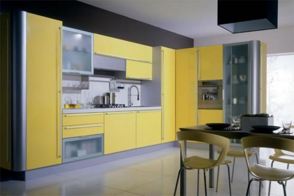 فخامة وروعة الأثاث ولا في الأحلام Modern-kitchen-cabinets-miro-yellow-582x388