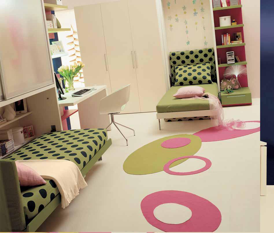 أفكار لاصحاب الغرف الضيقه أطفال Teen-bedroom-double-beds