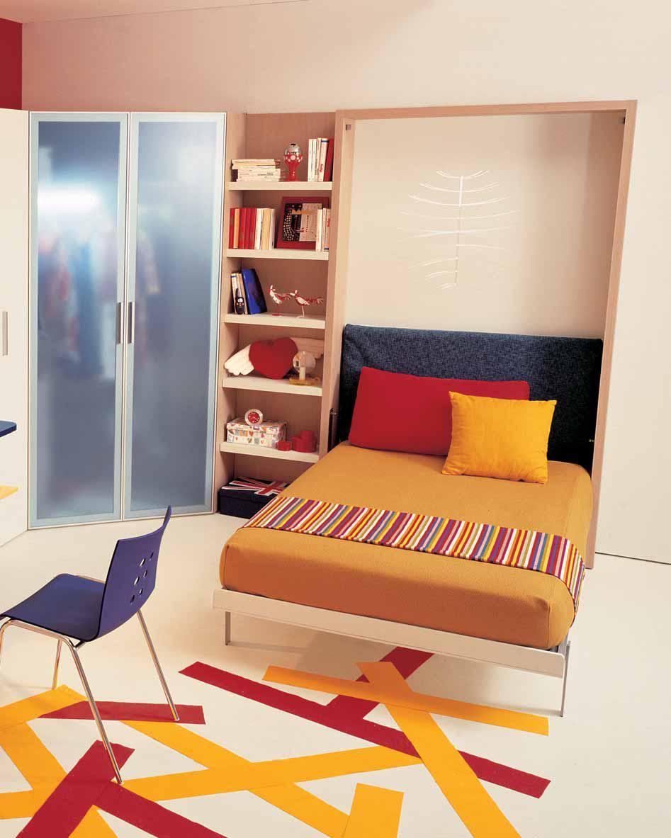 أفكار لاصحاب الغرف الضيقه أطفال Teen-bedroom-idea