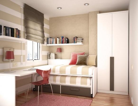 مجموعة ديكورات لغرف الاطفال ذات المساحات الصغيرة Bed-for-two-582x447