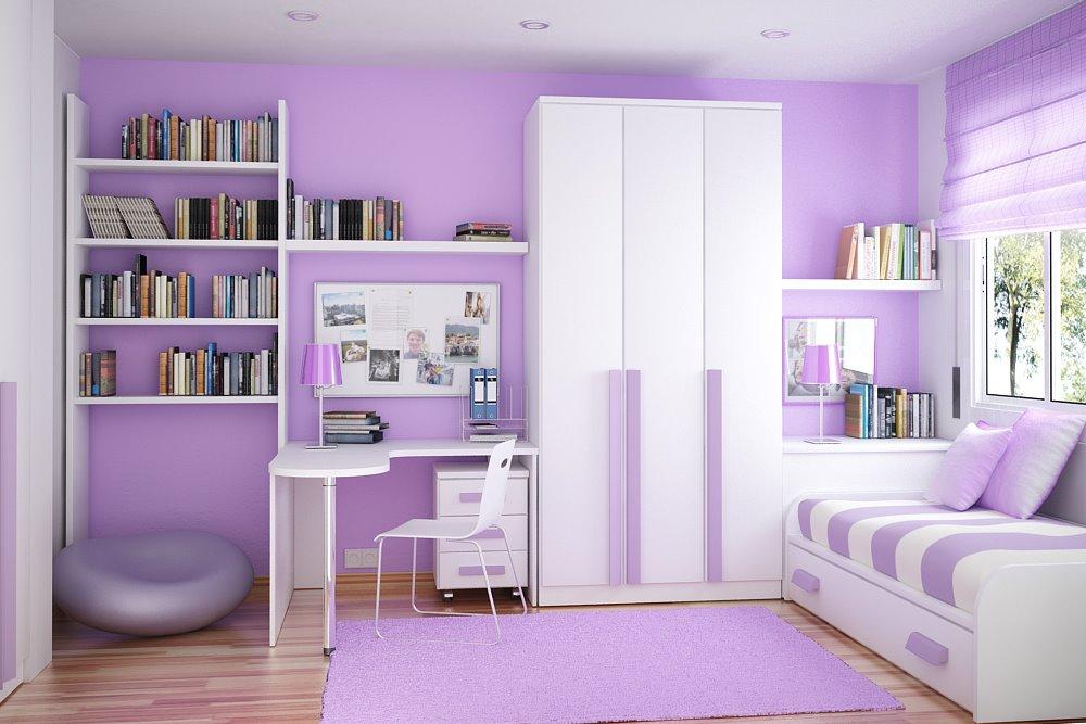 أفكار لاصحاب الغرف الضيقه أطفال Color-coordinated-compact-room