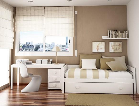 مجموعة ديكورات لغرف الاطفال ذات المساحات الصغيرة Compact-room-582x447