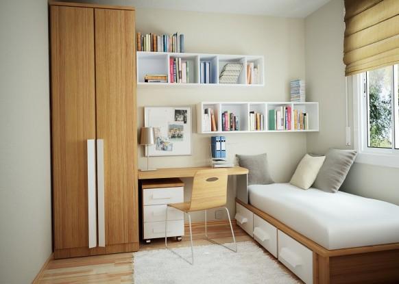 مجموعة ديكورات لغرف الاطفال ذات المساحات الصغيرة Minimal-furniture-in-the-room1-582x415