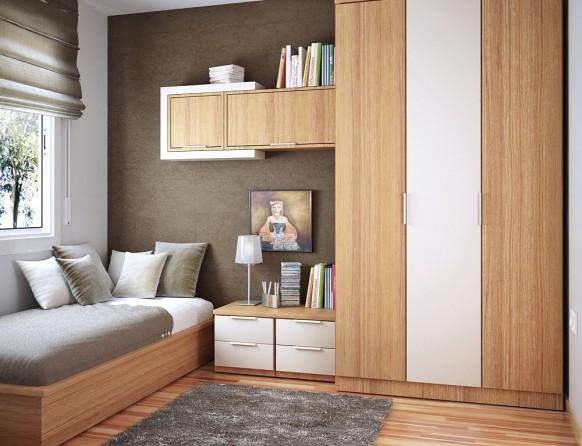 مجموعة ديكورات لغرف الاطفال ذات المساحات الصغيرة Warm-and-comfortable-582x446