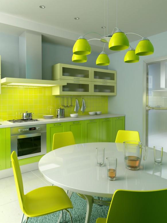 فخامة وروعة الأثاث ولا في الأحلام Green-and-yellow-kitchen-fordesigner-582x775