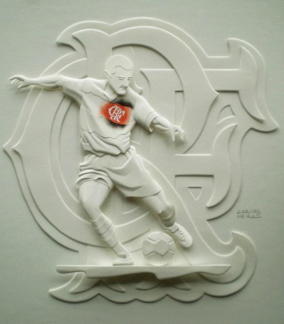 كارلون ميرا الفنان البرازيلى المتميز Beautiful-soccer-player-sculpture-582x663