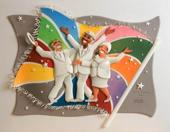 كارلون ميرا الفنان البرازيلى المتميز Paper-carnival-musicians-582x455
