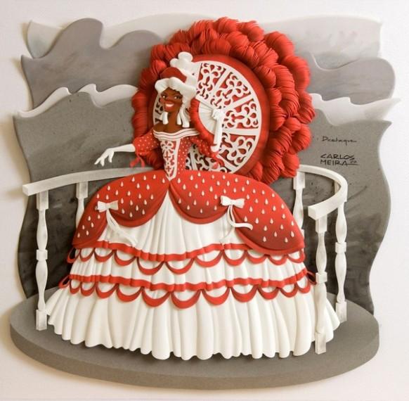 كارلون ميرا الفنان البرازيلى المتميز The-red-paper-princess-582x570