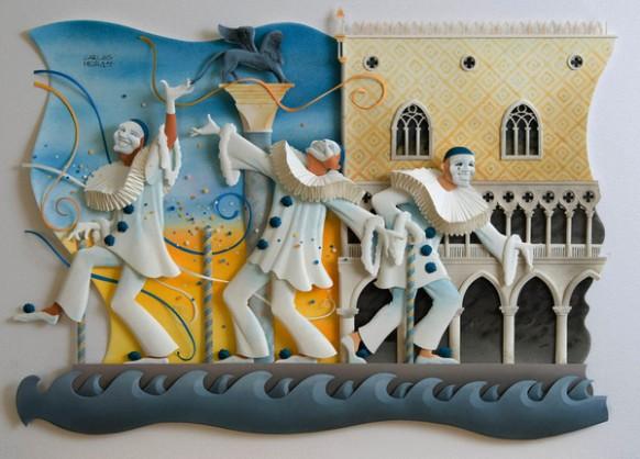كارلون ميرا الفنان البرازيلى المتميز The-three-clowns-582x418