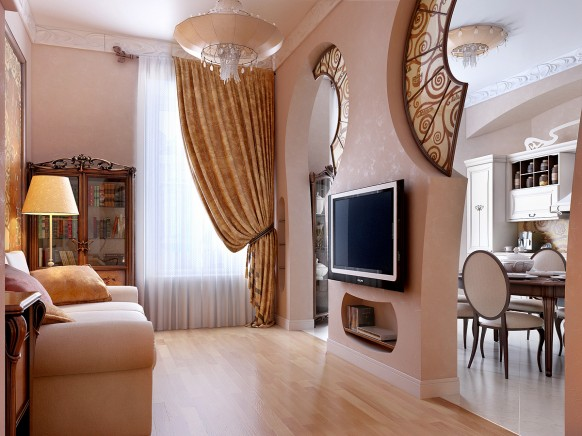 فخامة وروعة الأثاث ولا في الأحلام Tv-room-Gostinnaya-3-1-582x436