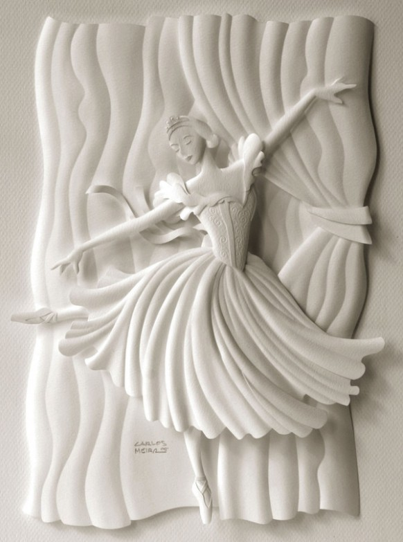 كارلون ميرا الفنان البرازيلى المتميز White-fairy-scultpure1-582x783