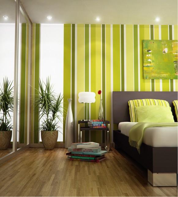 فخامة وروعة الأثاث ولا في الأحلام Green-stripes-bedroom-Index-11-582x646