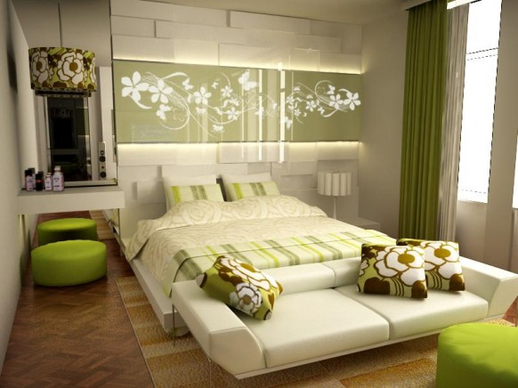فخامة وروعة الأثاث ولا في الأحلام Green_Accented_White_Bedroom_by_RyoSakaZaQ-582x436