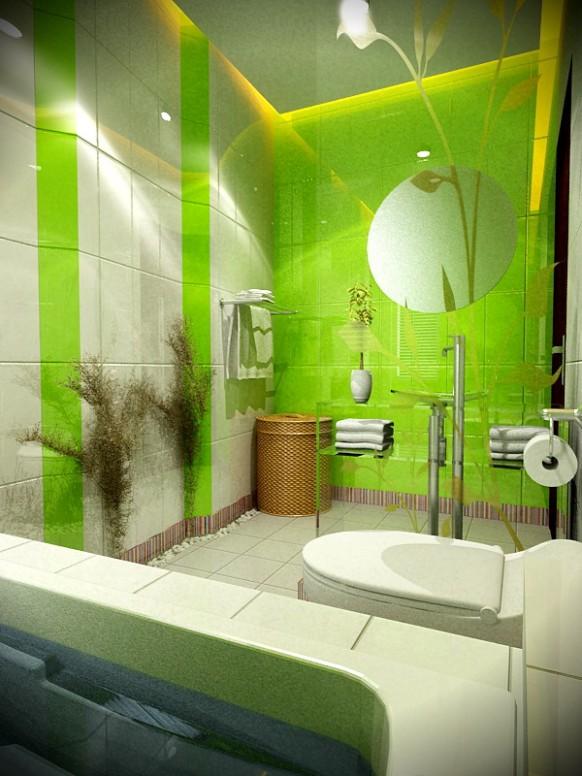 فخامة وروعة الأثاث ولا في الأحلام Green-and-White-bath-by-4bedDesign-582x776