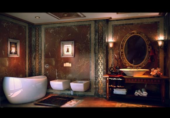 فخامة وروعة الأثاث ولا في الأحلام Luxurious-bathroom-facade-by-YANNA-CONCEPT-582x405