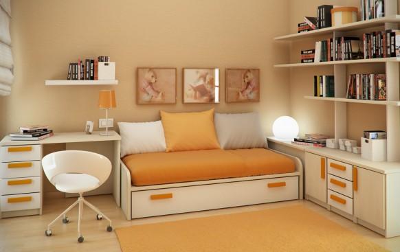 مجموعة ديكورات لغرف الاطفال ذات المساحات الصغيرة Beautiful-children-room-ideas-582x367