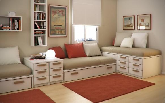 مجموعة ديكورات لغرف الاطفال ذات المساحات الصغيرة Kids-relaxation-room-582x364