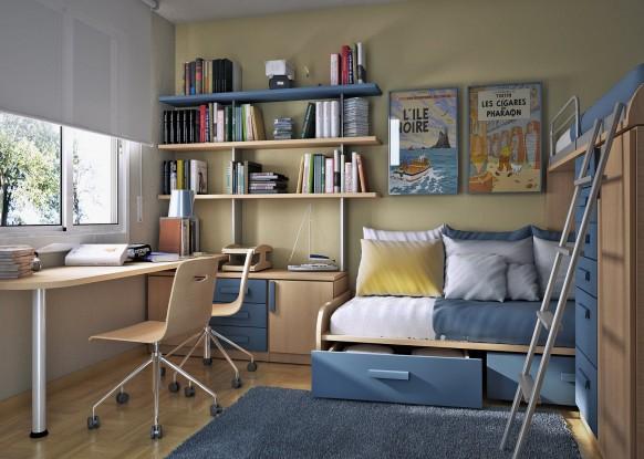مجموعة ديكورات لغرف الاطفال ذات المساحات الصغيرة Small-kids-room-design-582x415