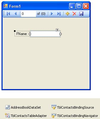 الاتصال و التعامل مع قاعدة بيانات أكسس فى بيئة vb.net بواسطة تقنية ADO.NET DbForm