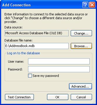 الاتصال و التعامل مع قاعدة بيانات أكسس فى بيئة vb.net بواسطة تقنية ADO.NET DbStep5