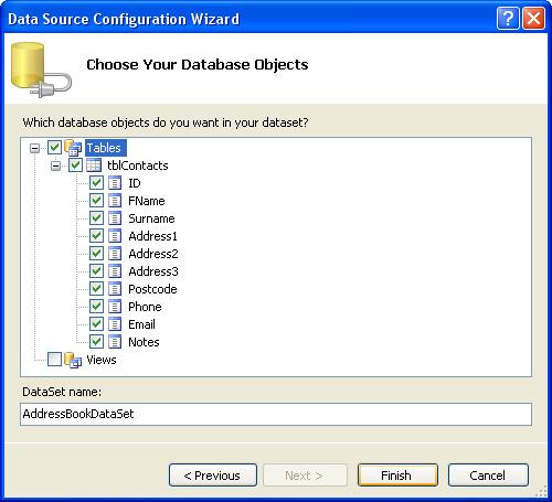 الاتصال و التعامل مع قاعدة بيانات أكسس فى بيئة vb.net بواسطة تقنية ADO.NET DbStep9