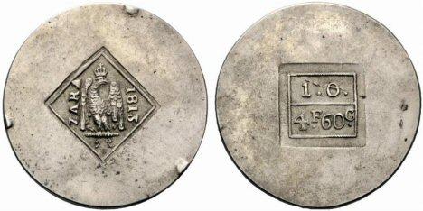 Postignute aukcijske cijene za novac grada Zadra koji kovan za potrebe opsjednute francuske vojske 1813. godine Zadar.3