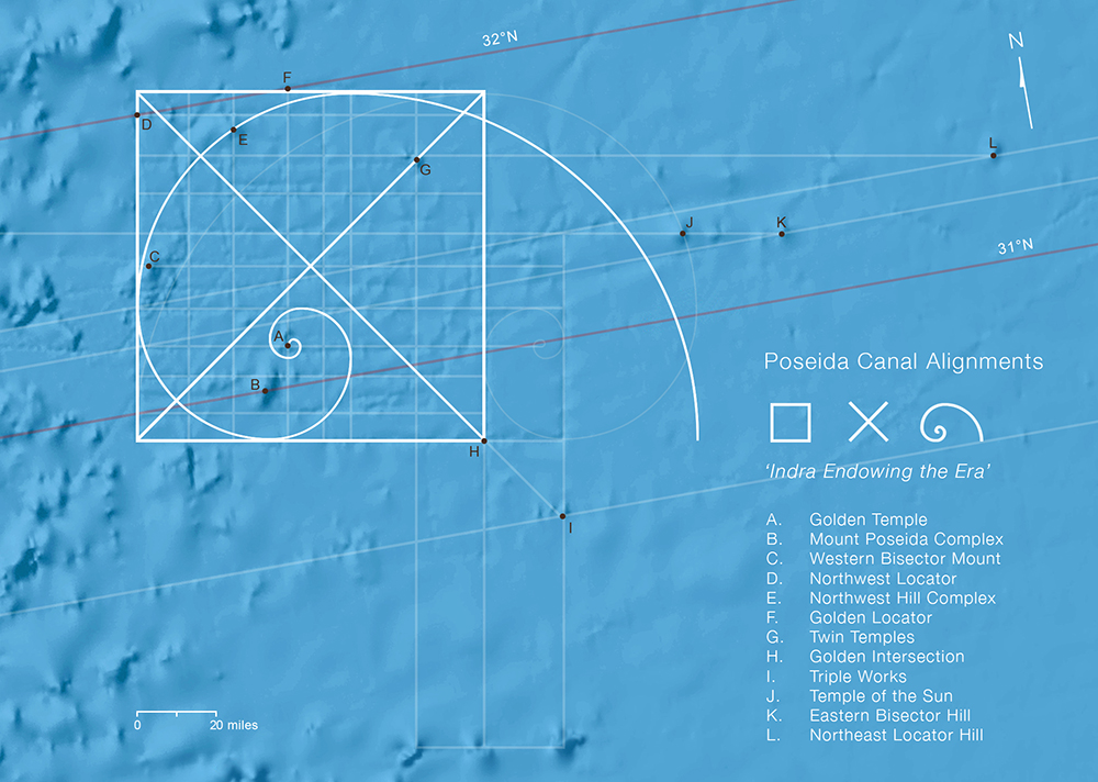 Fibonacci alignments of the Azores Pyramid & submerged city of Poseida Submerged6