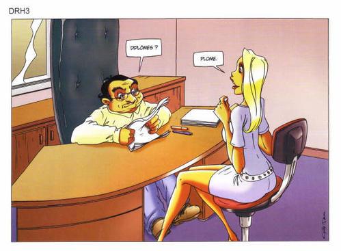 Les images La-blonde-en-entretien-d-embauche