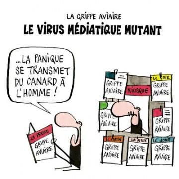 Vaccin contre la grippe A H1N1 porcine ex-mexicaine, et autres alchimies - Page 2 Grippe-aviaire_virus_mediatique_mutant