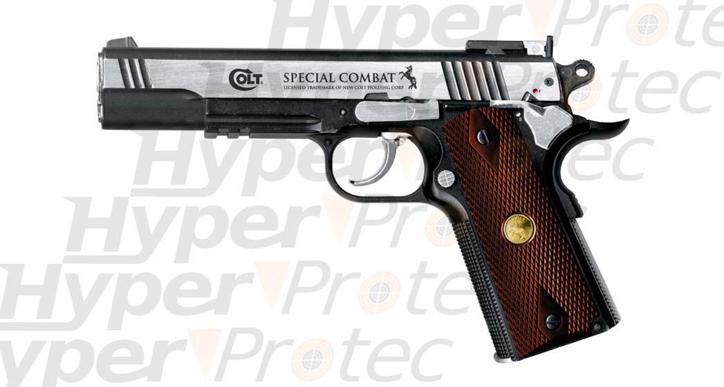 Tous les armes que j'ai eu et que j'ai actuellement.... (mise a jour 10/10/2010) Pistolet-billes-acier-colt-combat-acier