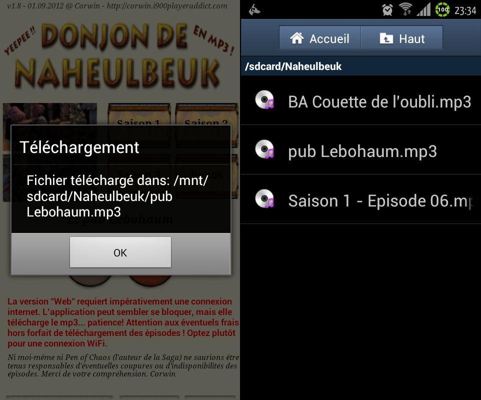[SOFT] LE DONJON DE NAHEULBEUK : suivez, en audio streaming et les news en RSS, de la cultissime série [Gratuit] 8
