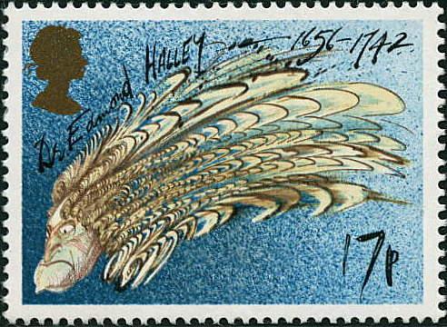 Stamp collecting Halleystamp