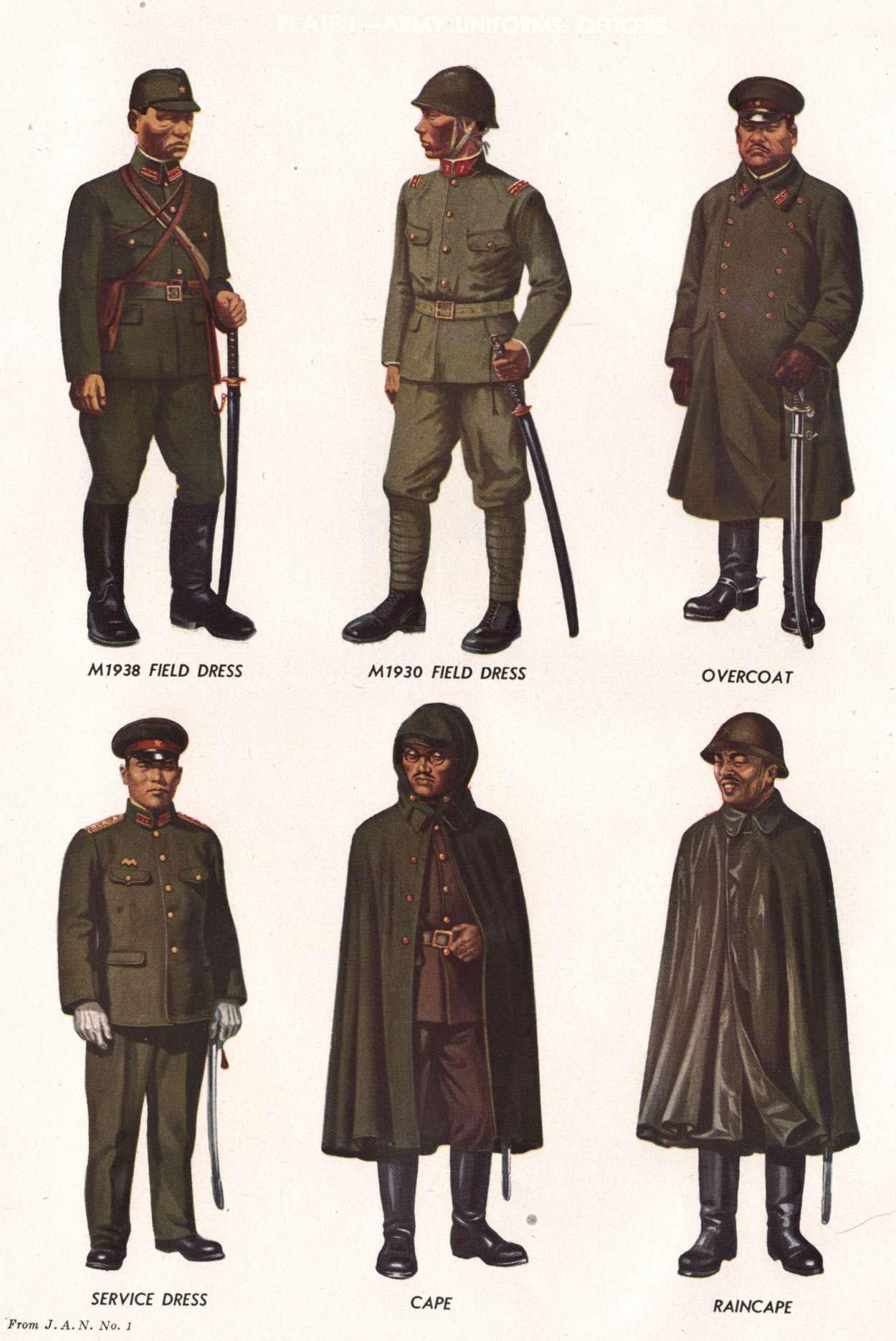 Uniformes et équipement de l'Armée impériale japonaise 1930- Hb-11-1