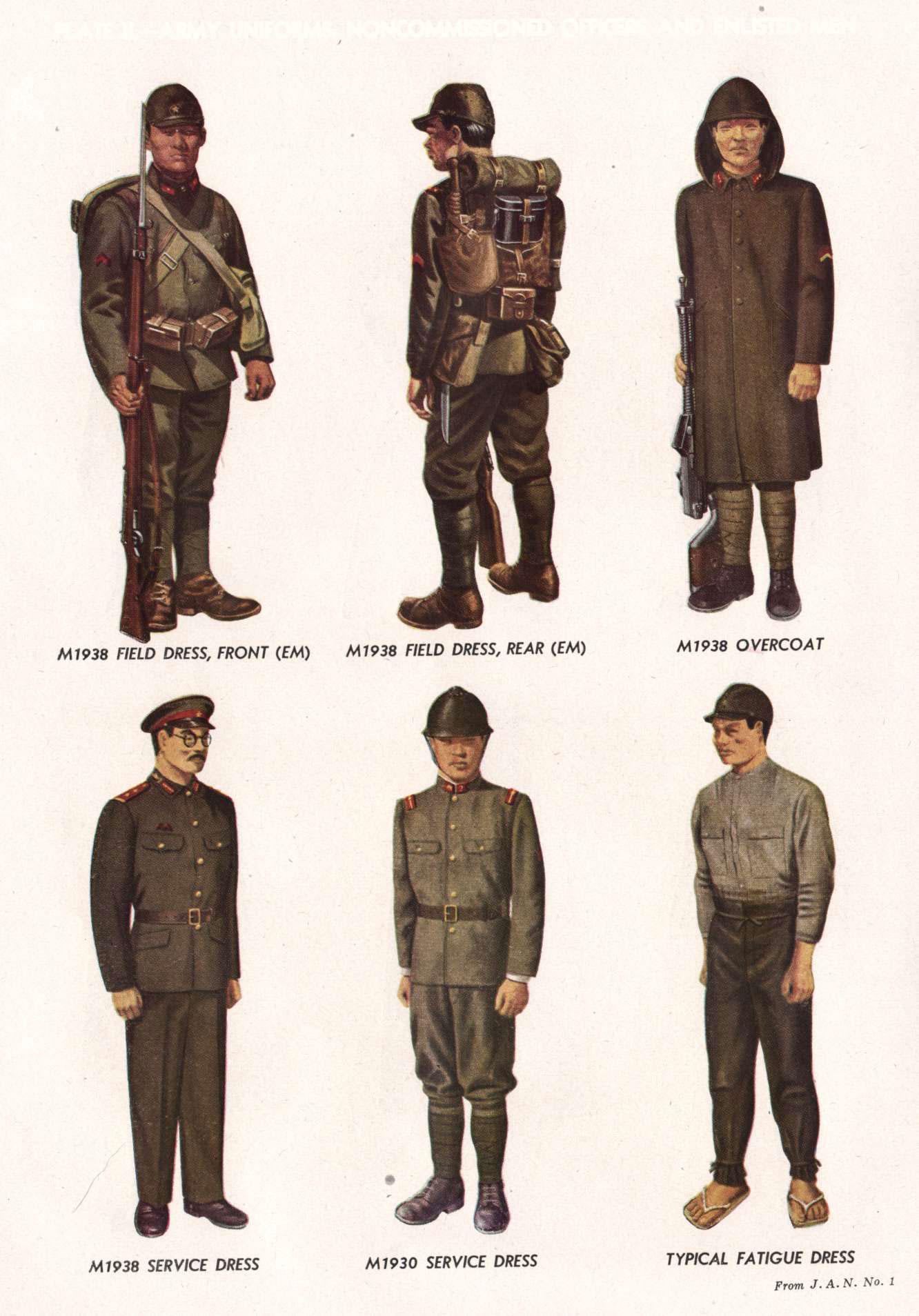 Uniformes et équipement de l'Armée impériale japonaise 1930- Hb-11-2