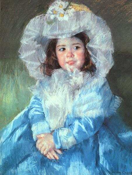 Adorables caritas de niños. Margot-blue