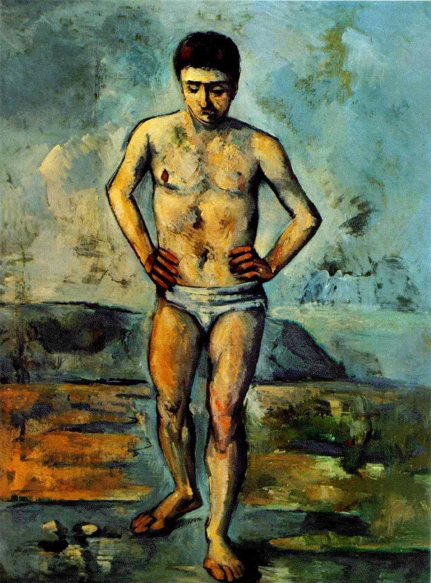 Faire un tableau ou peindre un sujet Cezanne.bather