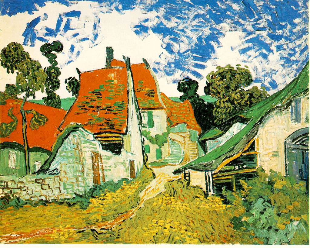 Village Street in Auvers Gogh.village-street-auvers