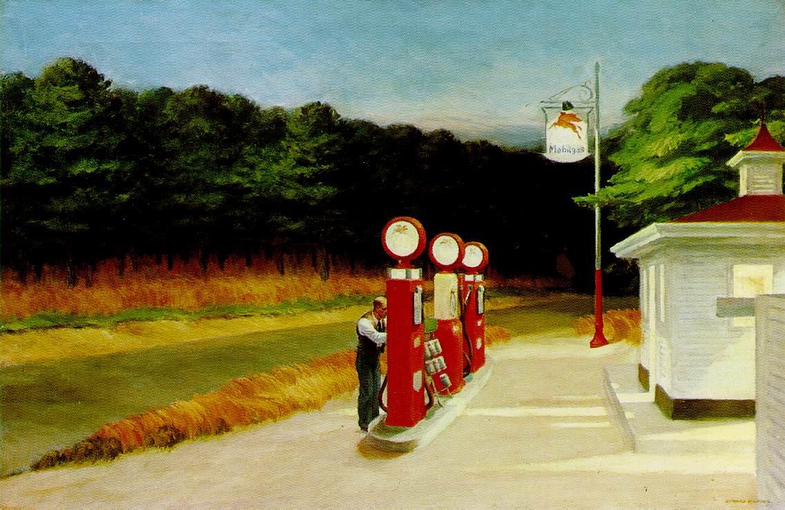 Motivos modernos (Pintura, Fotografía cosas así) Hopper.gas