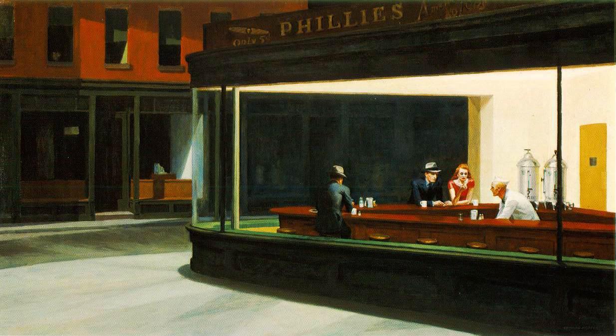 """Un Tableau De Hopper"", chanson du prochain album (spoiler) Hopper.nighthawks"