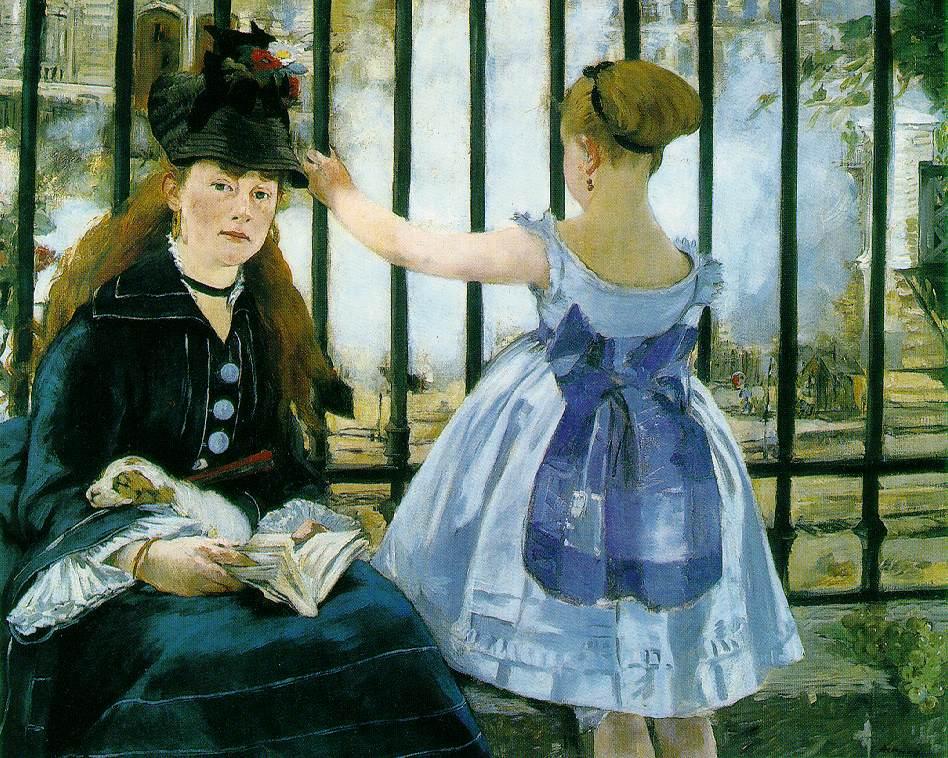 لوحات الرسام  بابلو بيكاسو بين اللوحه والمعلومه فنان القرن Manet.railroad