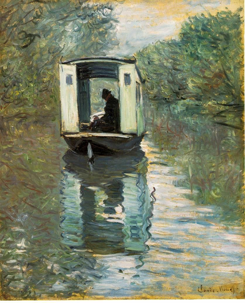 Slike poznatih umjetnika koje su vama lijepe Monet.bateau-atelier