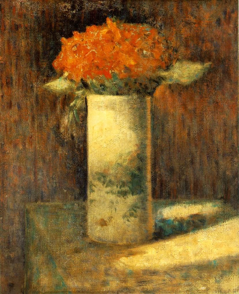 Georges-Pierre Seurat, (1859 - 1891) Vase-flowers